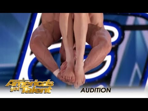 Married Couple Perform SEXY & DANGEROUS Trapeze Act! | America's Got Talent 2018