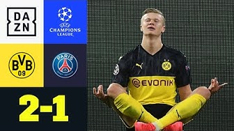 Haaland vergoldet Königsklassen-Debüt für BVB: Dortmund - PSG 2:1 | UEFA Champions League | DAZN