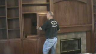 Mark Shows A Custom  Entertainment Cabinet And Mantle