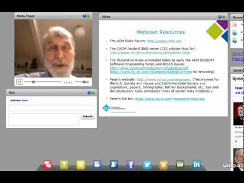 """""""Lessons from the ACM Risks Forum,"""" Peter Neumann"""