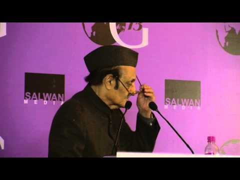 Dr. Karan Singh Speaking at One Globe 2013 Uniting Knowledge