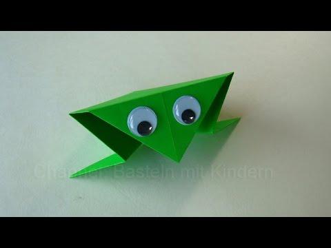 origami frosch falten basteln mit kindern papier falten einfaches origami diy youtube. Black Bedroom Furniture Sets. Home Design Ideas