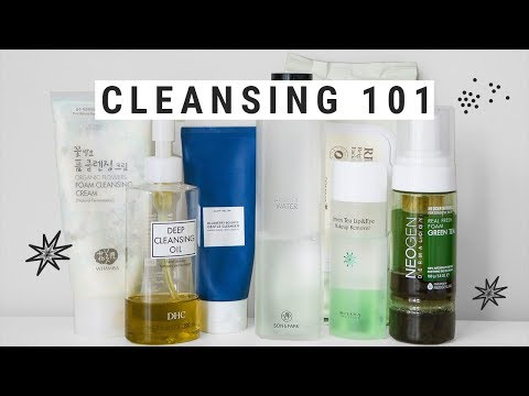 everything you need to know about CLEANSING + my favorite korean cleansers!