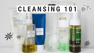everything you need to know about CLEANSING  my favorite korean cleansers