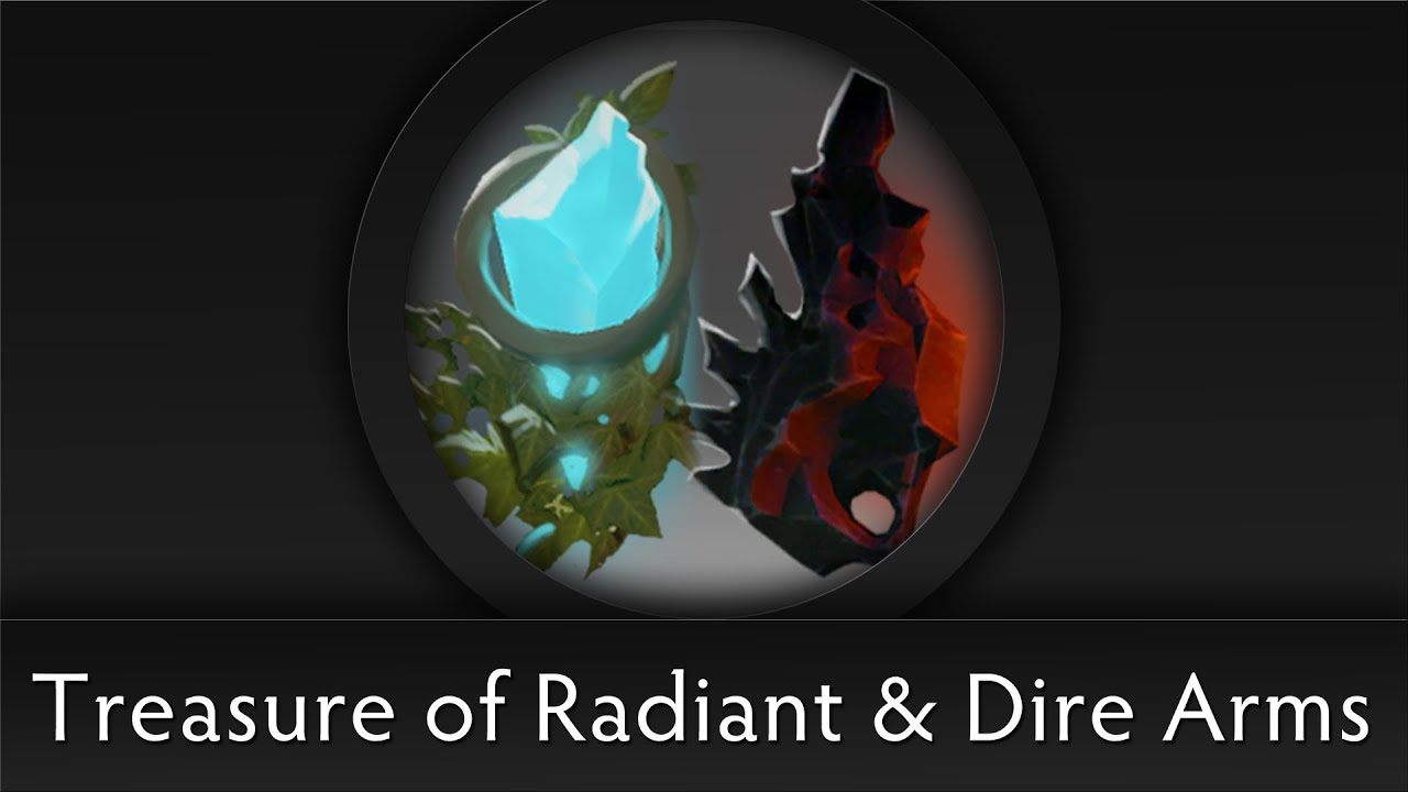 Dota 2 Chest Opening Treasure Of Radiant Amp Dire Arms