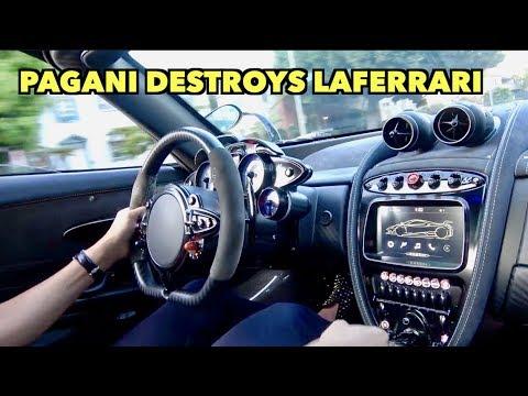 LOUD PAGANI DESTROYS FERRARI LAFERRARI!