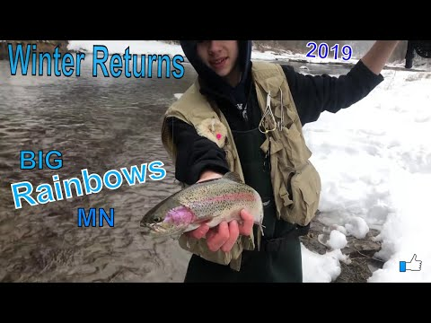 Winter Fly Fishing In Minnesota | BIG Trout | 2019