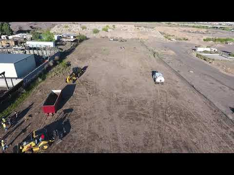 Culver Equipment drone flying