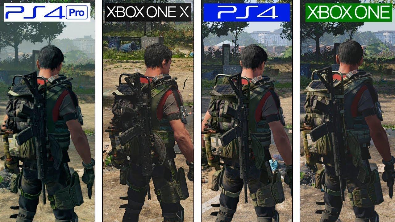 The Division 2 | ONE X vs PS4 Pro vs ONE vs PS4 | 4K Graphics Comparison