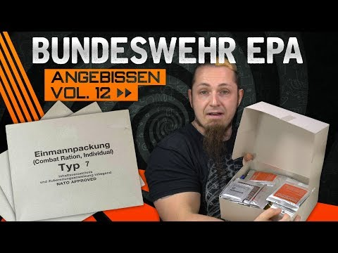Bundeswehr Kampfration MRE / EPA 🍗 ANGEBISSEN VOL.12 [German, Deutsch]