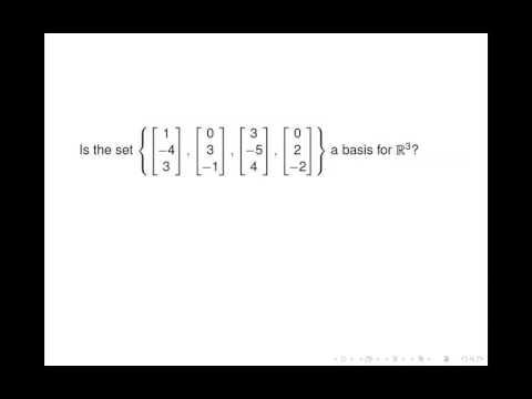 Linear Algebra - Basis of a Vector Space