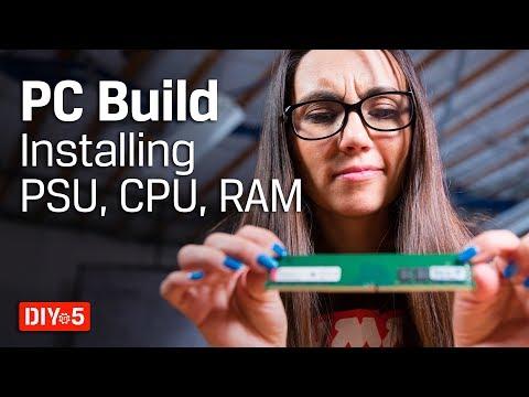 Lắp đặt CPU, RAMM, đế tản nhiệt.