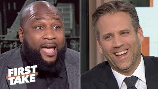 Max Kellerman's 'Tom Brady cliff theory' sets off Marcus Spears: Leave this alone! | First Take