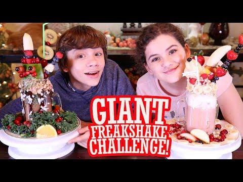 GIANT Freakshake Challenge! Girls VS Boys! Healthy Version using Shakeology! Pinterest Worthy 👍