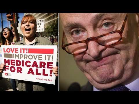 Chuck Schumer Cowardly Tap Dances Around Medicare for All Questions