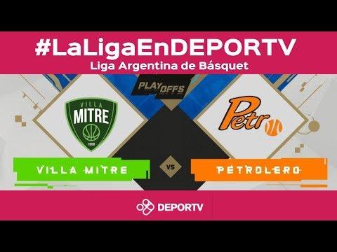 #LaLigaEnDEPORTV - Villa Mitre (2) vs Petrolero (1) - Playoffs Conferencia Sur