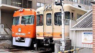 伊予鉄道 郊外線 700系先頭車719編成 大手町駅ダイヤモンドクロス