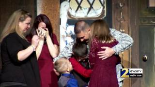 air force dad surprises family at fox theater for christmas