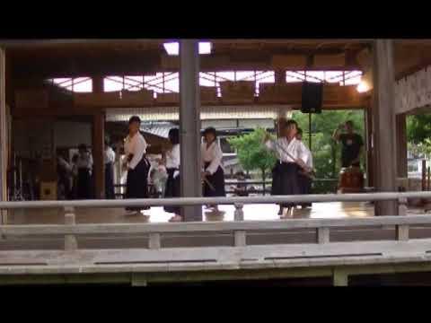 """大東流合気柔術『逍遙館』白山神社""""夏越祭""""【奉納演武】(前半)"""