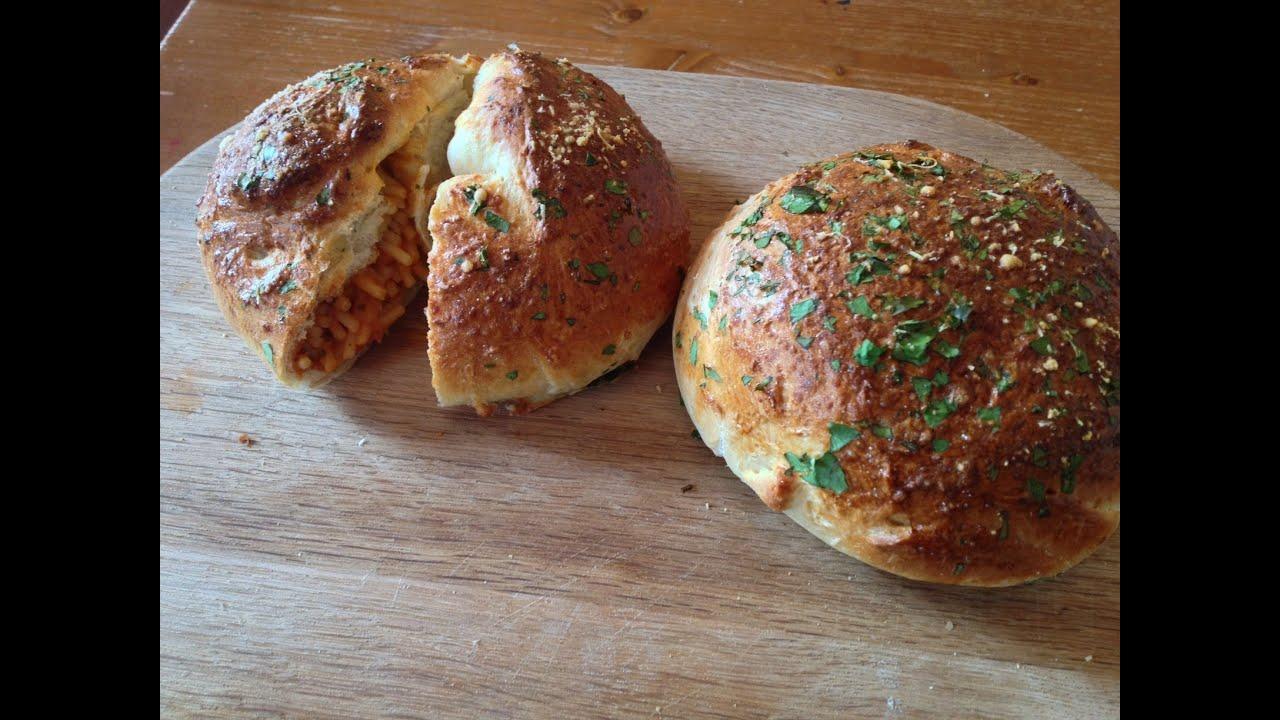 Chicken Parmesan Stuffed Bread Rolls Recipe