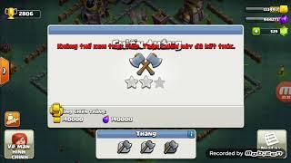 Đánh chay pháo đại bác lv14 | Vanh Clash of clans