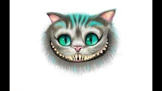 рисую чеширского кота