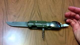 Нож складной с ложкой и вилкой .Обзор.