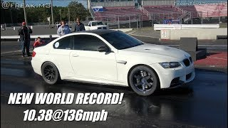 FREAK RACING Blown M3 | New S65 V8 1/4 Mile Record! |