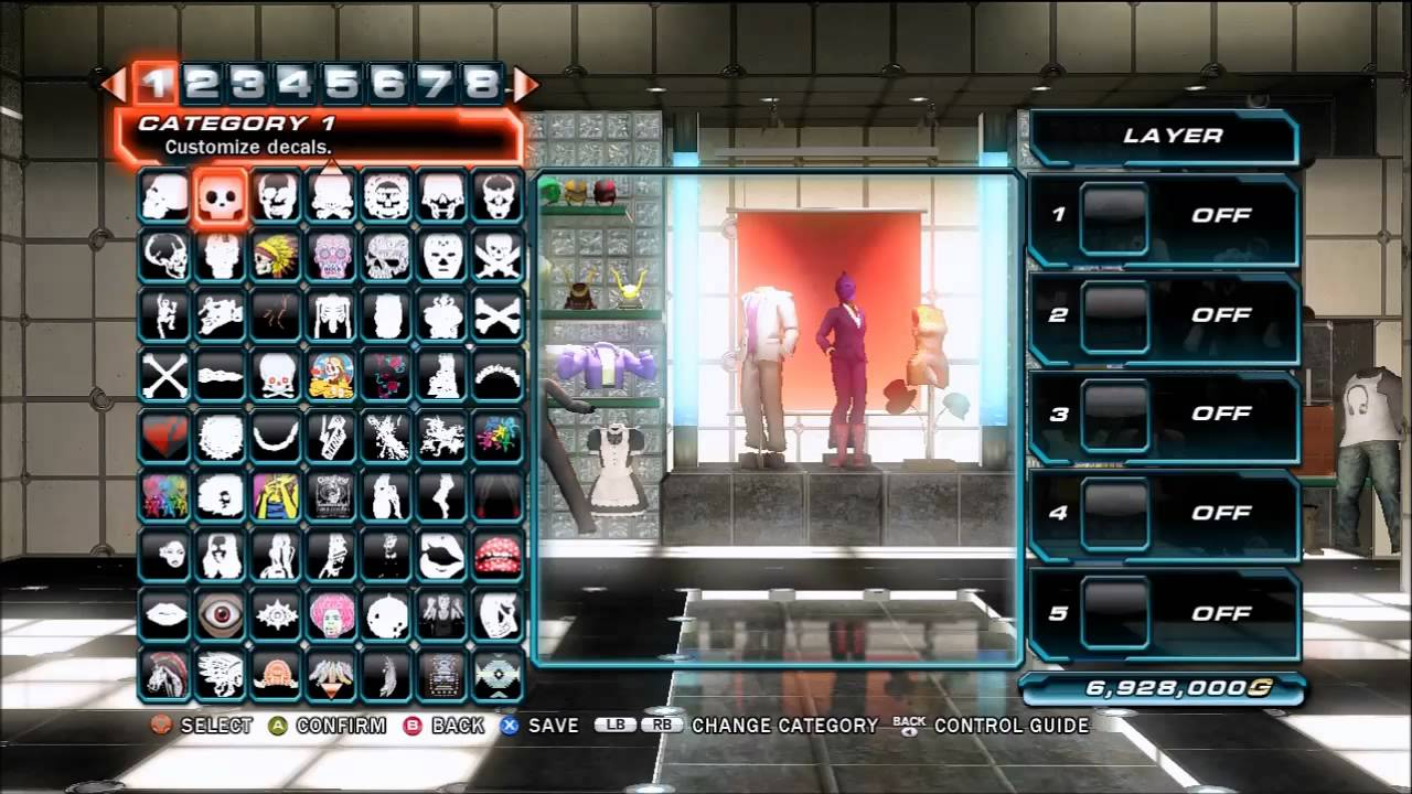Tekken Tag Tournament 2 Patch 1 02 Decal Editor Youtube