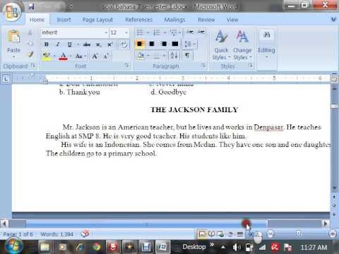 Cara menjawab soal bahasa inggris kelas 7