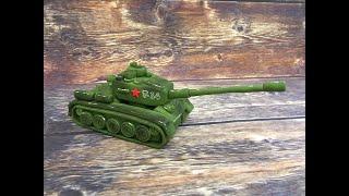 танк из мастики / how to make a tank cake