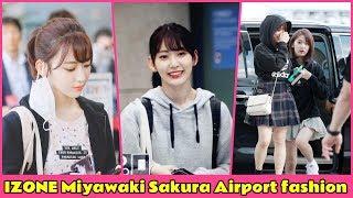 IZONE Miyawaki Sakura Airport fashion