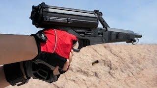 実弾射撃 キャリコ M950 9mm 50連弾倉 (Calico M950 9mm Pistol)