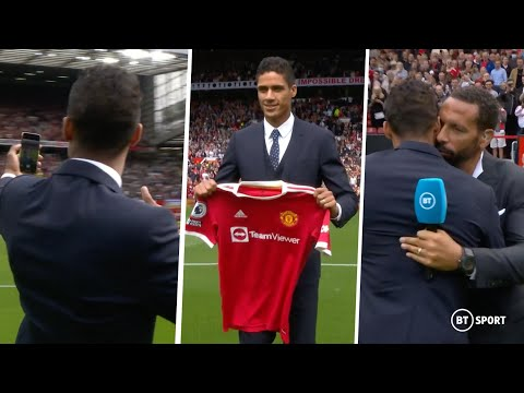 THE NOISE! 🤯🙌 Incredible Old Trafford unveiling for new signing Raphaël Varane!