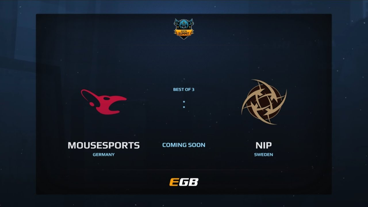 Mousesports vs NiP, Game 2, Dota Summit 7, EU Qualifier