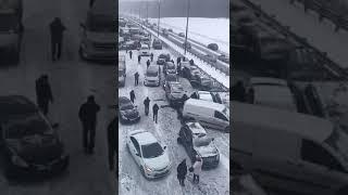 Смотреть видео Массовое ДТП Чехов - Москва Январь 2019 года онлайн