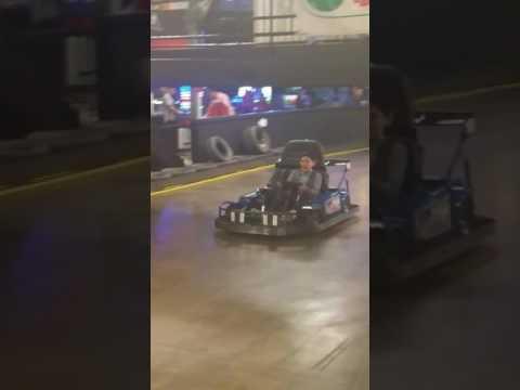 collin doing the go-kart racing game