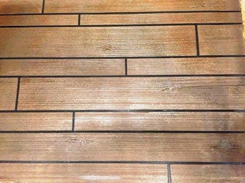 Concrete Overlay Wood Tile Floor