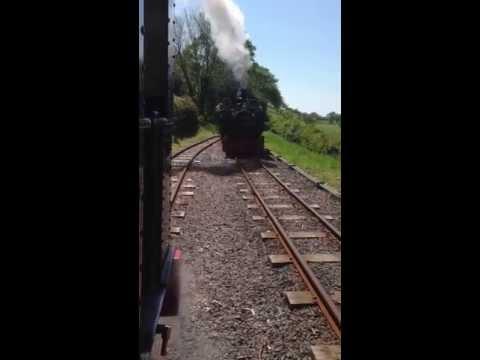 Talyllyn Railway No 7 comes into Brynglas