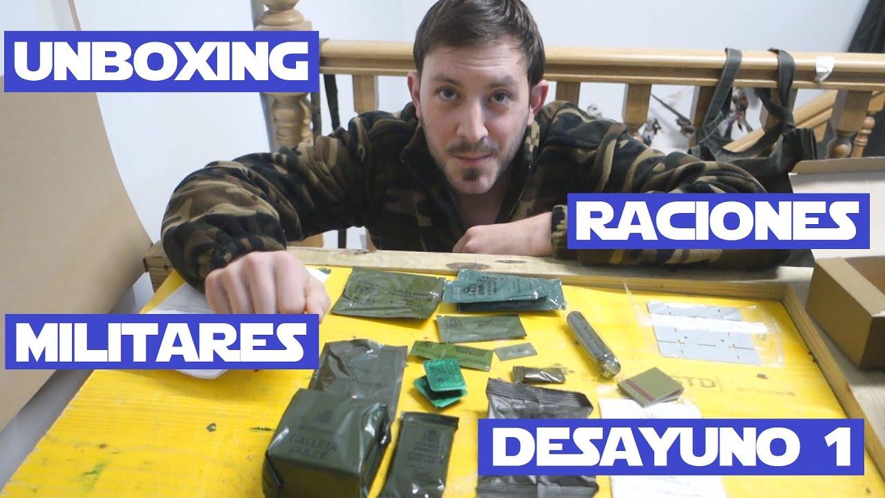 Unboxing raciones Ejercito Español Desayuno 1