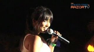 "Malaysian singer Che'Nelle performs her hit single ""I fell in love ..."