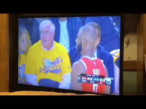 That's Ron Conway San Francisco Tech Investor Courtside At Rockets vs Warriors Game 3