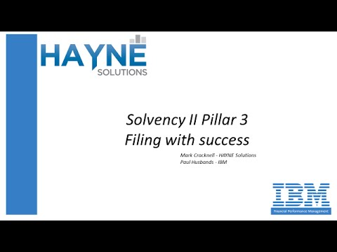 Solvency II Pillar 3 filing first time, on-time, without error!