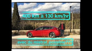 Test réel d'autonomie 1bis ! Sur autoroute avec le Mistral en Tesla Model 3
