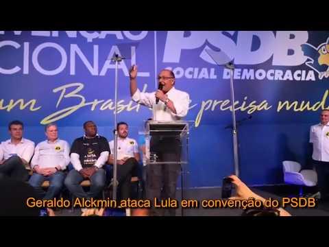 ALCKMIN DETONA LULA E PT - Governador de São Paulo diz que Lula será condenado por urnas