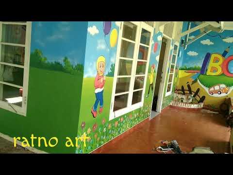 Lukisan Dinding Tk Paud Youtube