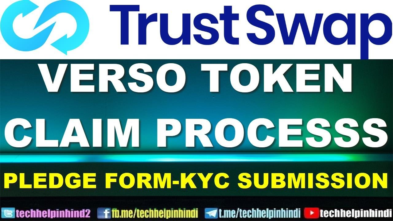 How to claim Verso token in trustswap – KYC & Pledge Form Submission process tutorial   VSO Token