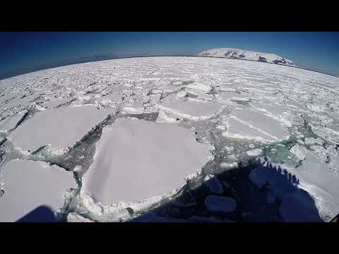 Travel The World with Suze; Breaking Through Ice, Cape Hallett, Coulman Island, Ross Sea, Antarctica
