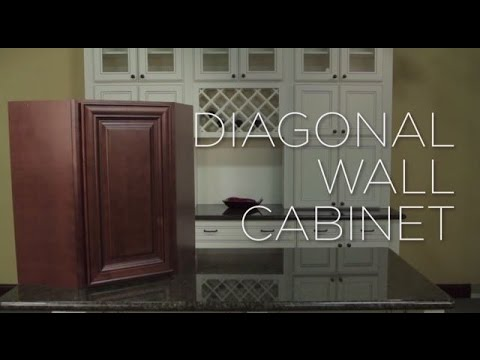 How To Assemble A Diagonal Corner Wall Cabinet Youtube