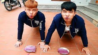 PHD | Vừa Hít Đất Vừa Ăn Kẹo Đùi Gà | Push